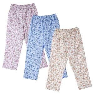 欲しかったパジャマの下 【3色組み/Lサイズ】 綿100% 腰部分ゴム入り - 拡大画像