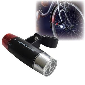 自転車用ヘッドライト&テールランプ一体型LEDライト 防水性 切り替え式ランプ - 拡大画像