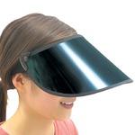 サンバイザー/UVカットバイザー 【ワイドタイプ/つば全長:約16cm】 スモークスクリーン仕様 ストラップ付き角度調節可