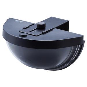 ドア用防犯ダミーカメラ 乾電池式/赤色LED付き 防水性 〔防犯対策用品〕 - 拡大画像