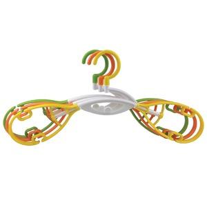乾きやすく伸縮するハンガー/立体ハンガー 【3本組み】 連結可/肩幅スライド伸縮可 - 拡大画像