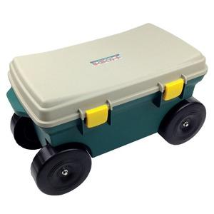 らくらくカート(ガーデニング腰掛けカート/道具箱) 耐荷重:80kg 日本製 〔園芸 ガーデニング用品 庭いじり〕 - 拡大画像