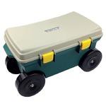 らくらくカート(ガーデニング腰掛けカート/道具箱) 耐荷重:80kg 日本製 〔園芸 ガーデニング用品 庭いじり〕