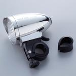 クラシックサイクルライト(自転車ライト/LEDライト) 砲弾形 明るさ:約17ルーメン 生活防水設計 工具不要