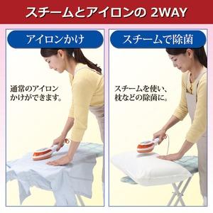 2WAYスチームアイロンPLUS 温度調節可 フッ素樹脂加工 毛ブラシ/毛玉ブラシ付き