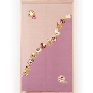 のれん/暖簾 【十二支繋がり】 幅85cm×長さ150cm ポリエステル100% 洗える 日本製 - 拡大画像