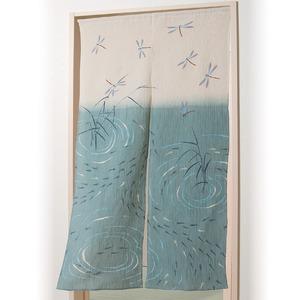 秩父ちぢみのれん/暖簾【トンボとメダカ】幅85cm×長さ150cm綿100%洗える日本製