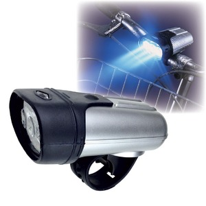 3LED サイクルライト/自転車ライト 【360度首振り可】 防雨・防水設計 ゴムベルト式 簡単装備 - 拡大画像