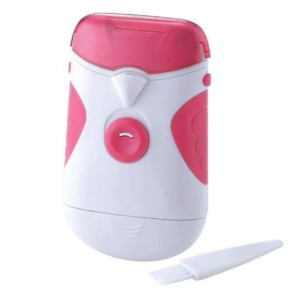 電動爪切り/ネイルケア 【LEDライト付き】 ヘッド部分:水洗い可 乾電池式