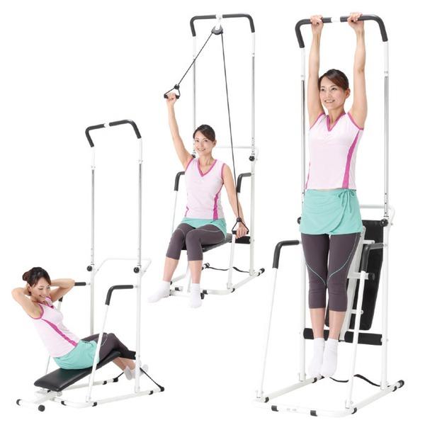 NEWぶら下がり君/健康器具 【ベンチシート付き】 アーム運動・腹筋運動機能付き 『極 きわみ』