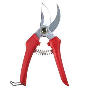 使いやすい 剪定鋏/はさみ 【180mm】 ハードクロームメッキ仕上げ ロック機能付き 〔ガーデニング用品 庭いじり 園芸〕 - 拡大画像