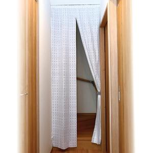 間仕切りスクリーン/カーテン 【階段用 幅100cm×高さ250cm】 洗える UVカット 遮熱 保温 カット可 日本製 - 拡大画像