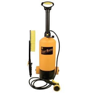 お掃除用 水圧クリーナー 【大容量 8L】 ポンプ式 電源・電池不要 キャスター付き 『クリーンマスター』