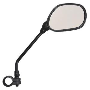 サイクルミラー/自転車ミラー 【右側専用】 反射板付き 角度調節可 簡単装備 - 拡大画像