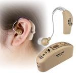 充電式 耳かけ集音器 【左右両耳対応】 耳かけタイプ 音量調整ダイヤル付き