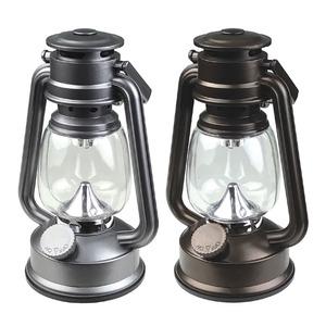 アンティーク風 LEDランタン/LEDライト 【ブラウン】 オールドタイプ 明るさ調節可 〔インテリア アウトドア 災害時〕 - 拡大画像