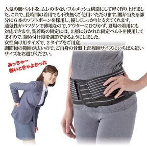しっかり腰ベルト/サポーター 【スリムタイプ S/M 60~75cm】 メッシュ生地 通気性抜群 女性向けサイズ