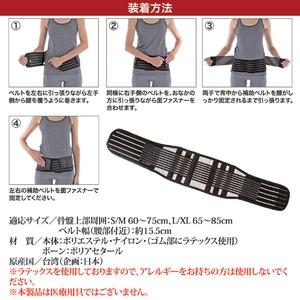 しっかり腰ベルト スリム S/M 60~75cm