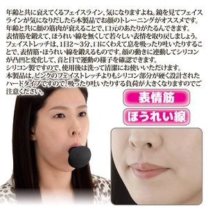 フェイストレッチ/フェイスラインケア 【ハードタイプ】 シリコン製 洗える 日本製 〔ほうれい線ケア 表情筋ケア フェイスケア〕