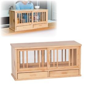 木製キッチンカウンター上 収納棚 60cm