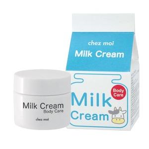 美容クリーム/ボディクリーム 【容量30g】 日本製 シェモア 保湿 『Milk Cream Body Care ミルク クリーム ボディ ケア』 - 拡大画像