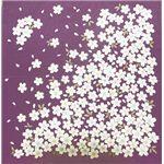 友禅縮緬風呂敷二巾 桜 紫