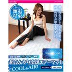 接触冷感ネオクール素材使用 超ひんやり冷却エアーマット シングルサイズ ブルー