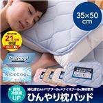 接触冷感度アップ 旭化成せんいペアクール×ナイスクール素材使用 ひんやり枕パッド2枚組 ブルー