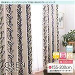 窓を飾るカーテン インファラ GREN(グレン) 遮光2級 遮熱 保温 形態安定 (AL) 幅100cm×丈165cm(2枚組) ブルー