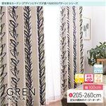 窓を飾るカーテン インファラ GREN(グレン) 遮光2級 遮熱 保温 形態安定 (AL) 幅100cm×丈205cm(2枚組) ブルー