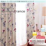 窓を飾るカーテン インファラ Velvet Remembrance(ベルベットリメンバランス) 遮光2級 遮熱 保温 形態安定 (AL) 幅100cm×丈205cm(2枚組) ターコイズ
