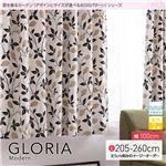 窓を飾るカーテン モダン GLORIA(グロリア) 遮光2級 形態安定 (AL) 幅100cm×丈205cm(2枚組) ブラック