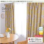窓を飾るカーテン ナチュラル DAISY(デイジー) 遮光2級 形態安定 (AL) 幅100cm×丈115cm(2枚組) イエロー