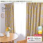 窓を飾るカーテン ナチュラル DAISY(デイジー) 遮光2級 形態安定 (AL) 幅100cm×丈135cm(2枚組) イエロー