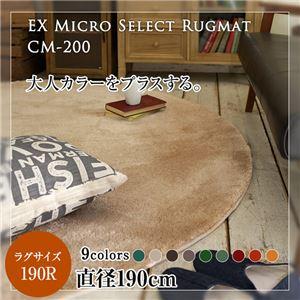 EXマイクロセレクトラグマットCM200 直径190cm (TOS) モスグリーン - 拡大画像