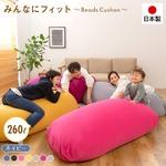 日本製 特大 ビーズクッション 【ネイビー】 ビーズソファ 大きめ ビーズ補充可能 洗えるカバー おしゃれ