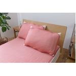 ひんやり乾きやすい (スピードドライ) エアー枕パッド 約43×63cm ピンク 【同色2枚セット】