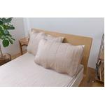 ひんやり乾きやすい (スピードドライ) エアー枕パッド 約43×63cm ベージュ 【同色2枚セット】
