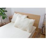 ひんやり乾きやすい (スピードドライ) エアー枕パッド 約43×63cm アイボリー 【同色2枚セット】