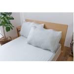 ひんやり乾きやすい (スピードドライ) エアー枕パッド 約43×63cm グレー 【同色2枚セット】