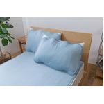 ひんやり乾きやすい (スピードドライ) エアー枕パッド 約43×63cm アクアマリン 【同色2枚セット】