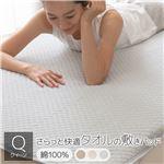 さらっと快適 タオルの敷きパッド クイーン (約160×200cm) グレー