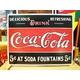 アメリカンブリキ看板 コカコーラ 5セントの源泉 - 縮小画像1