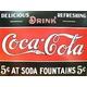 アメリカンブリキ看板 コカコーラ 5セントの源泉 - 縮小画像2