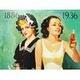 アメリカンブリキ看板 コカコーラ 50周年記念 水着 - 縮小画像3
