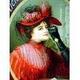 アメリカンブリキ看板 コカコーラ ビクトリア調赤ドレス - 縮小画像3