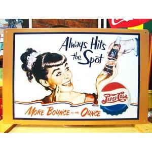 アメリカンブリキ看板 ペプシコーラ いつもの - 拡大画像