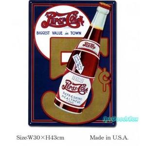 アメリカンブリキ看板 ペプシコーラ -5セント- - 拡大画像