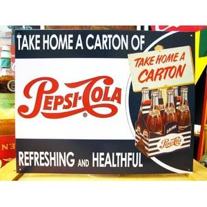 アメリカンブリキ看板 ペプシコーラ 1カートン - 拡大画像