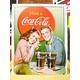 アメリカンブリキ看板 コカコーラ ヤングカップル - 縮小画像1